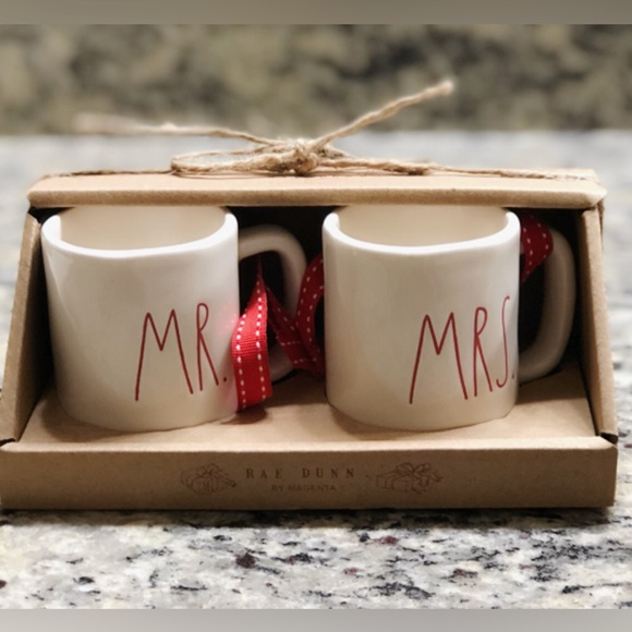Rae Dunn Other New Mr Mrs Ornament Mug Set Xmas 2018 Poshmark